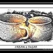 Cream And Sugar - Pottery Art Print