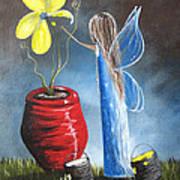 Creating Tomorrow Fairy By Shawna Erback Art Print