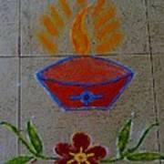 Creative Diya Rangoli Art Print