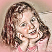 Creative Portrait Sample In Hdr Art Print