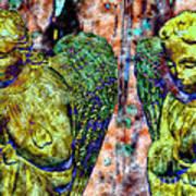 Creche Angels 3 Art Print
