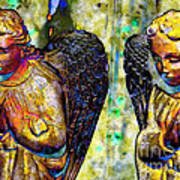 Creche Angels 5 Art Print
