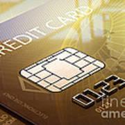 Credit Card Macro - 3d Graphic Art Print