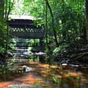 Creek Bridge Art Print by Bob Jackson