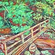 Creek Bridge Art Print