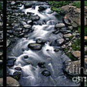 Creek Flow Polyptych Art Print
