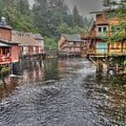 Creek Street - Ketchikan - Alaska Art Print