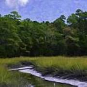 Creekside Fishing Art Print