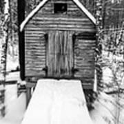Creepy Cabin In The Woods Art Print by Edward Fielding