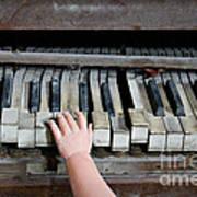 Creepy Piano Baby Art Print