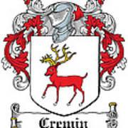 Cremin Coat Of Arms Irish Art Print
