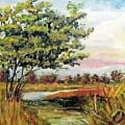 Crepe Myrtle In The Wetlands Art Print