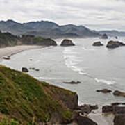 Crescent Bay At Cannon Beach Oregon Coast Art Print