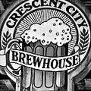 Crescent City Brewhouse - Bw Art Print
