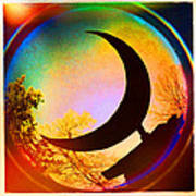 Crescent Moon Over Eureka Springs Art Print by Garry McMichael