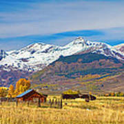 Crested Butte Autumn Landscape Panorama Art Print