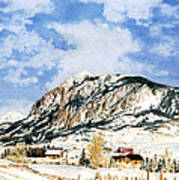 Crested Butte Mountain Art Print
