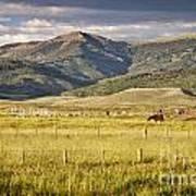 Crested Butte Ranch Art Print