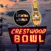 Crestwood Bowl Restored Art Print