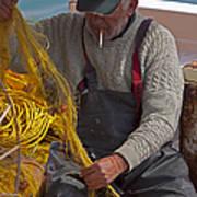 Crete Fisherman   #9348 Art Print