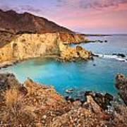 Cretan Coastline. Art Print