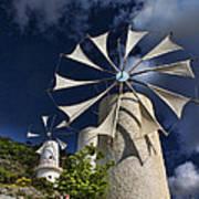Creton Windmills Art Print