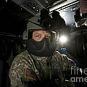 Crew Chief In A Uh-60 Black Hawk Art Print