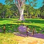 Cricket Match St George Granada Art Print by Andrew Macara