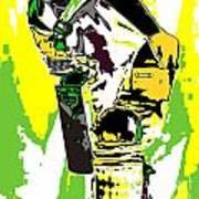 Cricketer Art Print