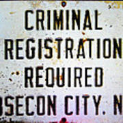 Criminal Registration Required Absecon City Nj Art Print