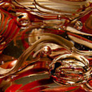 Crimson And Gray Glass Macro Ws4 Art Print