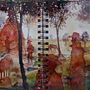 Crimson Cowboys Art Print