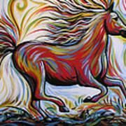 Crimson Lightning Art Print