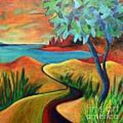 Crimson Shore Art Print