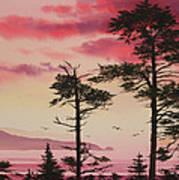 Crimson Sunset Splendor Art Print by James Williamson