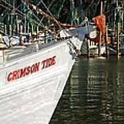 Crimson Tide Bow Art Print by Michael Thomas