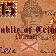 Crimson Tide Currency Art Print
