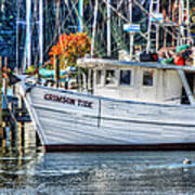 Crimson Tide In Harbor Art Print by Michael Thomas