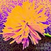 Crisantemo Dorado Art Print