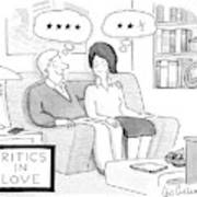 Critics In Love Art Print