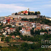 Croatian City Motovun  Art Print