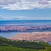 Croatian Islands Aerial View From Velebit Art Print