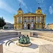Croatian Nationa Theater In Zagreb Art Print