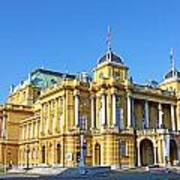 Croatian National Theater In Zagreb Art Print