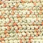 Crochet Rag Rug In Pastel Colours Art Print