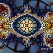 Crochet Work-geometric Abstraction Art Print