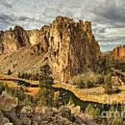 Croooked River Around The Jagged Peaks Art Print
