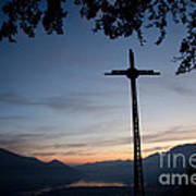 Cross On The Mountain Art Print