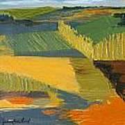 Crop Fields Print by Erin Fickert-Rowland