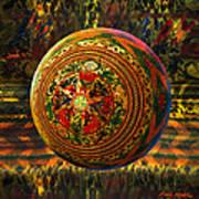 Croquet Crochet Ball Art Print